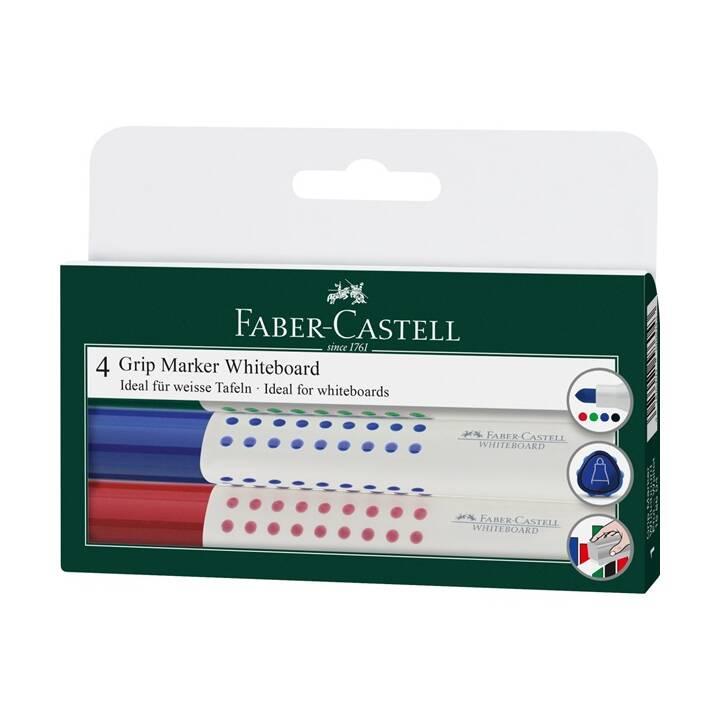 FABER-CASTELL Marqueur pour tableaux GRIP 4 couleurs