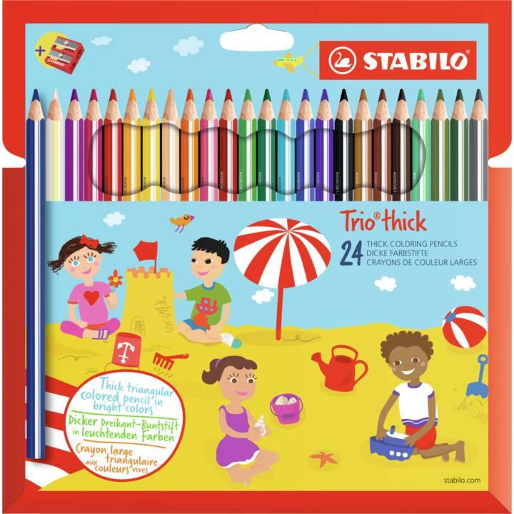 Crayons de couleur STABILO Trio épais