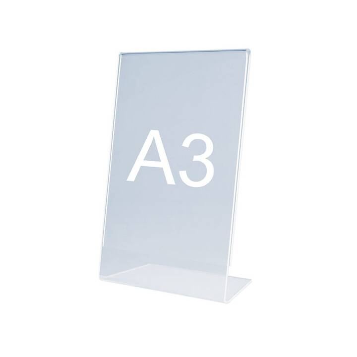 MAGNETOPLAN Porta depliant da tavola (A3, Transparente)