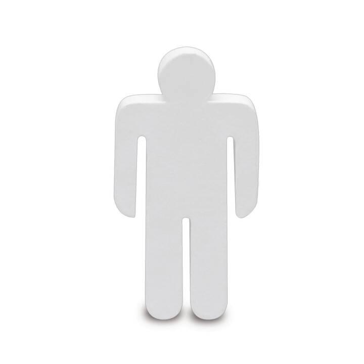 Figurines GLOREX homme en carton, blanc
