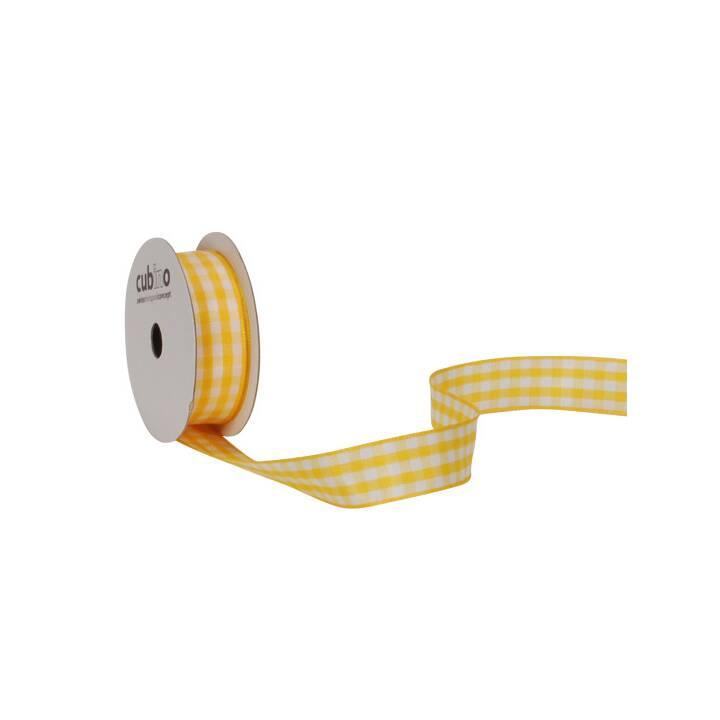 Bande SPYK Cubino Vichy 15mmx3m jaune-blanc blanc