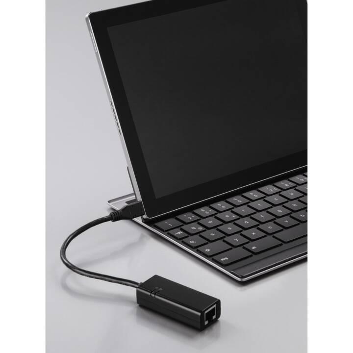 HAMA 00133481 USB Type-C RJ-45 USB Tipo-C Cavo di interfaccia/adattatore nero