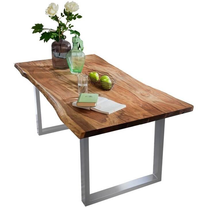 SIT Tavolo da pranzo Unique  (200 cm x 100 cm x 76 cm, Marrone, Metallo)