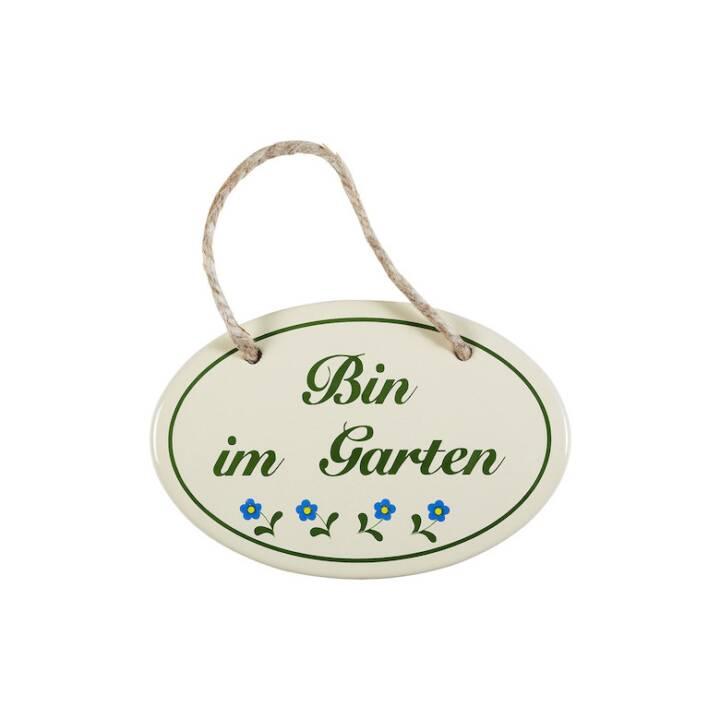 MÜNDER EMAIL Bin im Garten Deko Schilder (15 cm x 0.5 cm, Grün, Weiss, Blau, Schwarz)
