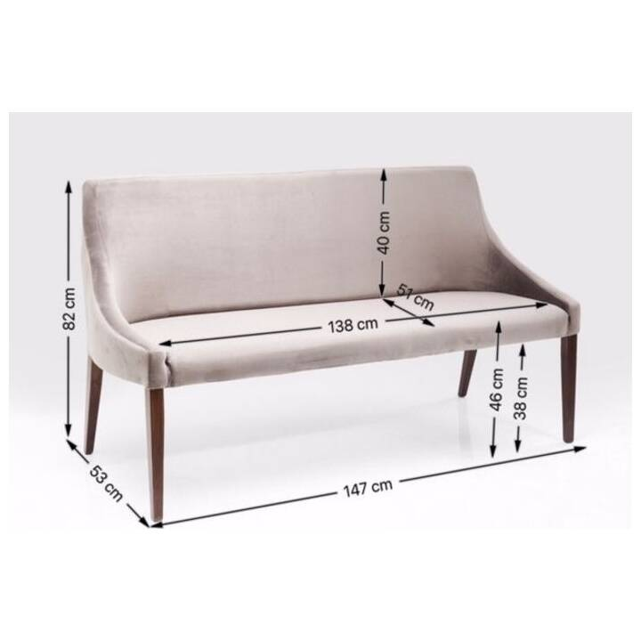 KARE Mode Bank (164 cm, Buche)