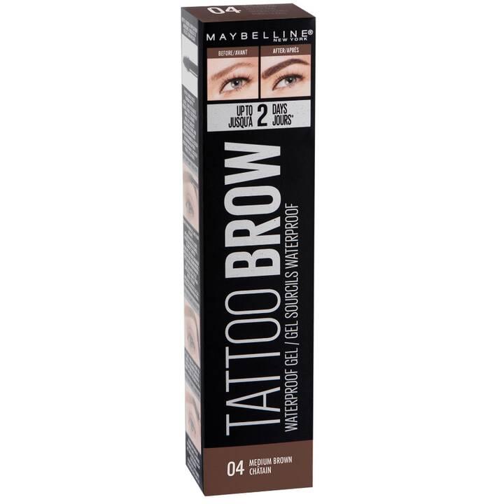 MAYBELLINE Tattoo Brow Tint 04 Medium Brown (Augenbrauen Gel, Mittelbraun)