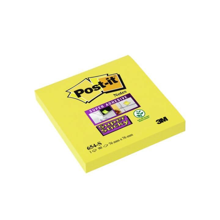 Blocco note 3M Post-it Super Sticky 7,6 x 7,6 cm Giallo