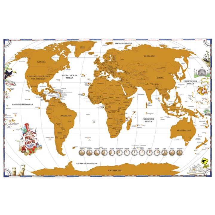 ISOSTRADE mappa del mondo (91.5 cm x 61 cm, Multicolore)