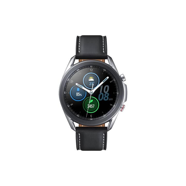 SAMSUNG Galaxy Watch3 LTE (45 mm, Edelstahl, Echtleder)