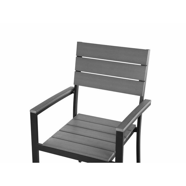 BELIANI Chaise de jardin Como (Grigio, Nero, 6 pezzo)