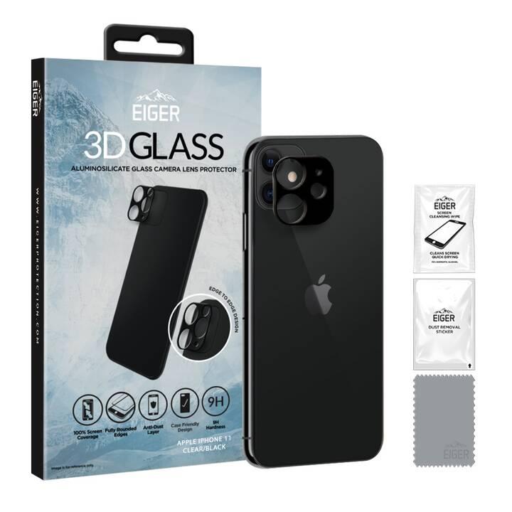 EIGER Verre de protection de l'appareil photo Fibre Glass (Clair, iPhone 11)