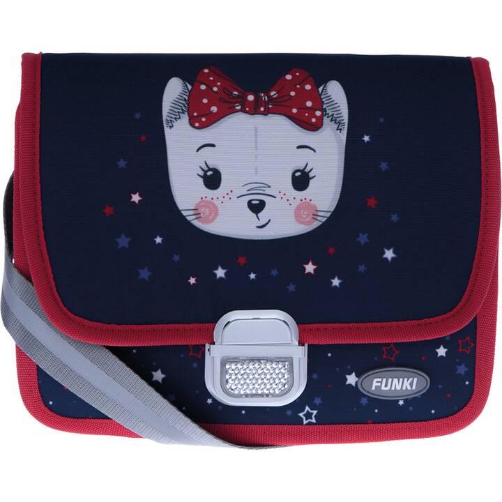 FUNKI Borsa da asilo infantilo Cute Cat (Blu, Rosso)