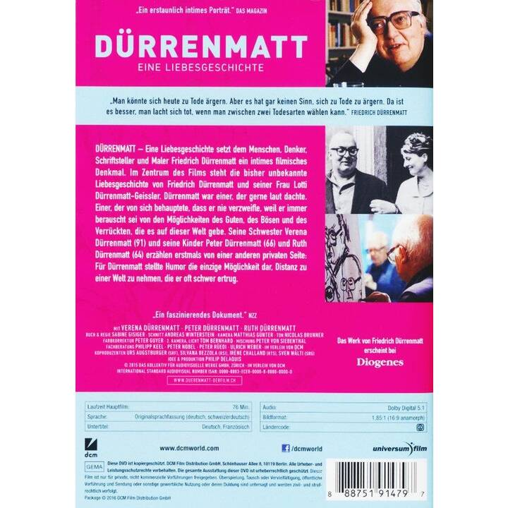 Dürrenmatt - Eine Liebesgeschichte (DE)