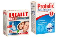 Засоби для очищення та фіксації зубних протезів