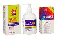 Засоби для профілактики та лікування демодекозу