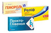 Препарати від геморою, місцево