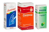 Препараты от сухого кашля