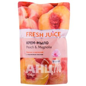 Крем-мило Fresh Juice Peach & Magnolia дой-пак 460 мл