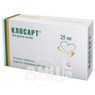 Клосарт таблетки покрытые пленочной оболочкой 25 мг №14