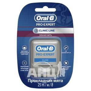 Зубна нитка Oral-B Pro-Expert Clinic Line прохолодна м'ята 25 м