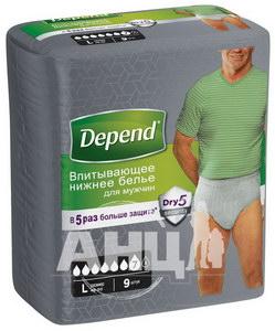 Поглинаюча нижня білизна Depend для чоловіків L/XL №9