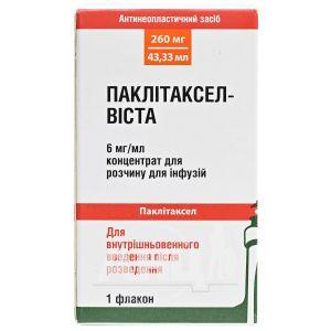 Паклитаксел-Виста концентрат для раствора для инфузий 260 мг/мл флакон 43,33 мл №1