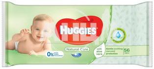 Вологі серветки Huggies natural care алое №56