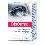 Визоптик капли глазные раствор 0,5 мг/мл флакон-капельница 5 мл №2