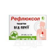 Таблетки від печії Рефлюксол 2,5 г зі смаком м'яти №24