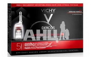 Засіб проти випадіння волосся Vichy Dercos Aminexil Clinical 5 комплексної дії для чоловіків 21 х 6 мл