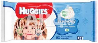 Серветки вологі дитячі Huggies Everyday №56