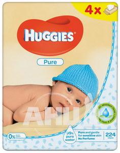 Вологі серветки Huggies pure №224