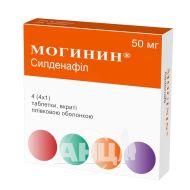 Могинин таблетки покрытые пленочной оболочкой 50 мг блистер №4