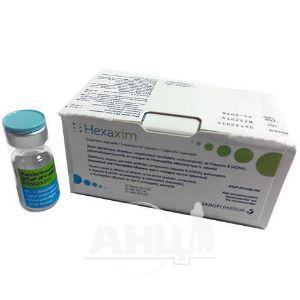 Гексаксим суспензія для ін'єкцій 1 доза шприц 0,5 мл з однією або двома голками №1