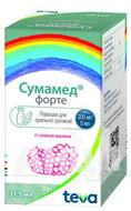 Сумамед форте порошок для оральної суспензії зі смаком малини 1500 мг флакон 37,5 мл