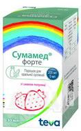 Сумамед форте порошок для оральної суспензії зі смаком полуниці 1200 мг флакон 30 мл