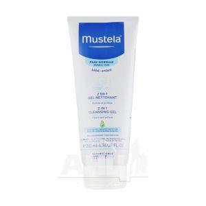 Шампунь-гель Mustela для очищения волос и тела 2 в 1 200 мл
