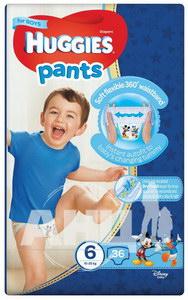 Підгузки-трусики дитячі гігієнічні Huggies Pants для хлопчиків 6 (15-25кг) №36