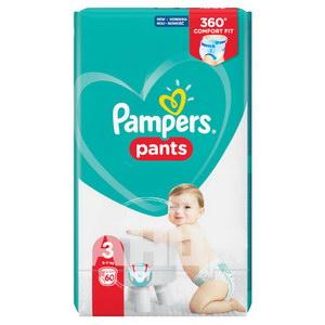 Підгузки-трусики дитячі Pampers Pants Midi 3 №60