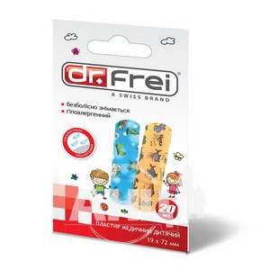 Пластир медичний дитячий Dr.Frei 19 х 72 мм №20