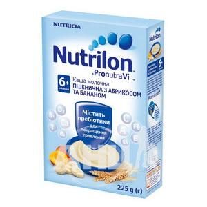 Молочна каша Nutrilon пшенична з абрикосом і бананом 225 г