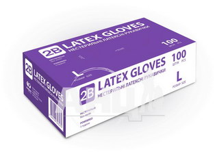 Перчатки медицинские смотровые латексные с пудрой 2b размер M пара