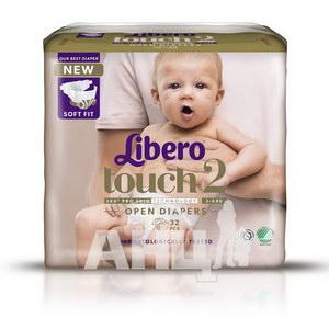 Подгузники для детей Libero Touch 2 3-6 кг №32