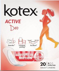 Прокладки ежедневные Kotex Active Deo Extra тонкие №20