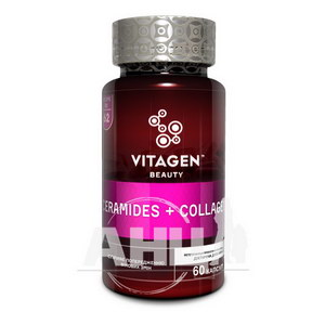 Витаджен Vitagen Ceramides+Collagen Керамиды+Коллаген капсулы №60