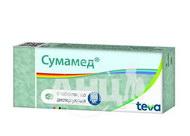 Сумамед таблетки дисперговані 500 мг блістер №6