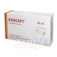 Клосарт таблетки покрытые пленочной оболочкой 50 мг №84