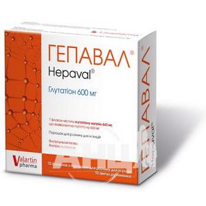 Гепавал порошок для раствора для инъекций 600 мг флакон с растворителем (вода для инъекций)ампула 4 мл №10