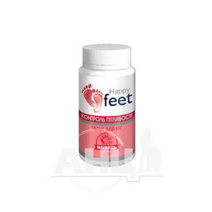 Тальк для ніг контроль пітливості Happy Feet ялівець 50 г
