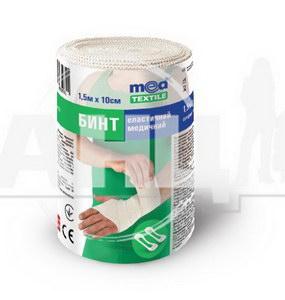 Бинт эластичный медицинский Medtextile средней растяжимости 1,5 м х 10 см
